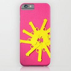 Gun Flower on Pink Slim Case iPhone 6s