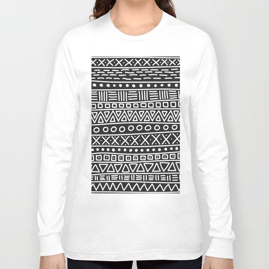 Geometric Doodle Plaid Long Sleeve T-shirt