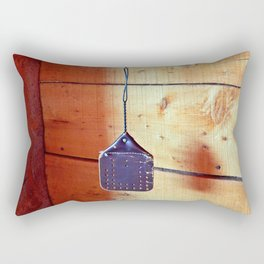 Vintage Leather Fly Swatter Rectangular Pillow