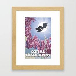 Coral Highlands (Monster Hunter) Travel Poster Framed Art Print