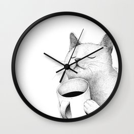 Coffe & Cat Wall Clock
