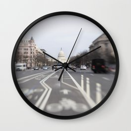 In the Streets of DC Wall Clock
