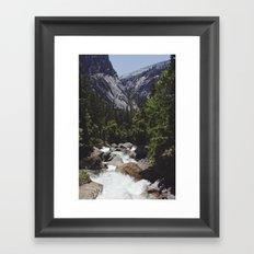 yosemite vernal fall Framed Art Print