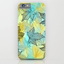 Winter Leaves iPhone Case