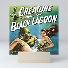 Creature from the Black Lagoon, vintage horror movie poster Mini Art Print