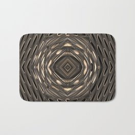 Architectural abstract in four-way symmetry of the Broad, Los Angeles, California Bath Mat