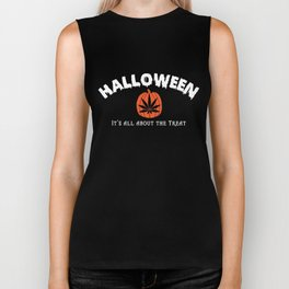 All About the Treat Cannabis Tee Biker Tank