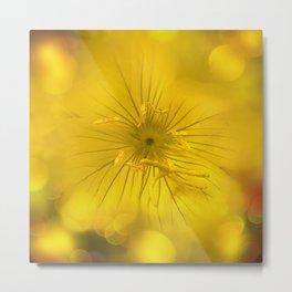 Yellow Bokeh Flower Metal Print