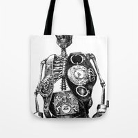 mike wrobel Tote Bags featuring Mike Tyson by Motohiro NEZU
