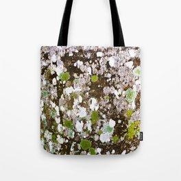 437 - Abstract Lichen Design Tote Bag