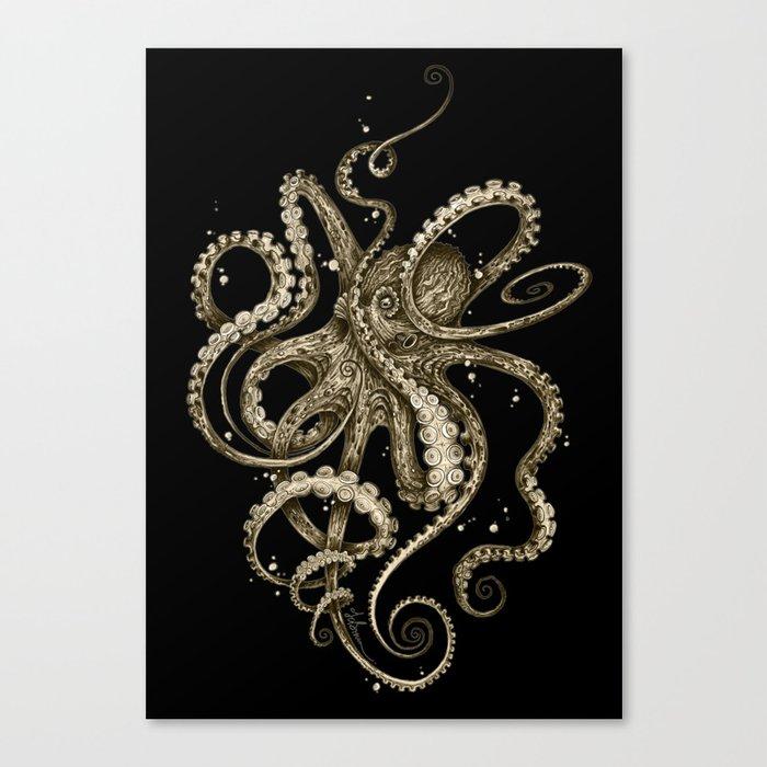 Octopsychedelia Sepia Leinwanddruck