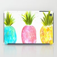 pineapples iPad Cases featuring Pineapples  by Melanie Dorsey Designs