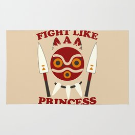 Fight like a princess Rug