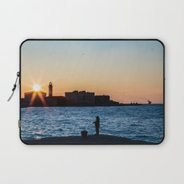 Colorful sunset in front of the city of Trieste Laptop Sleeve