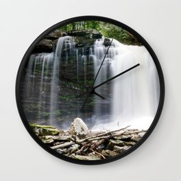 The Falls of Hills Creek Wall Clock