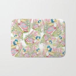 Jemima Puddleduck vintage Beatrix Potter pattern design Bath Mat