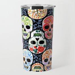 Calaveras_ Sugar Skulls_Celebracion del Color_RobinPickens Travel Mug