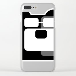 The Intelligent Bear Logo Clear iPhone Case
