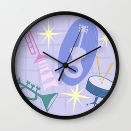 Django Jazz Composition In Purple Wall Clock