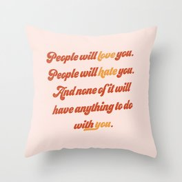 Love/Hate Throw Pillow