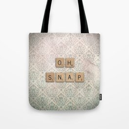 OH SNAP! Scabble Tile Wall Art Tote Bag