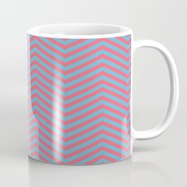 Modern pink blue geometric chevron pattern Coffee Mug