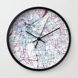 Louisville map Wall Clock
