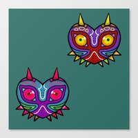 majora Canvas Prints featuring Majora Inspired Mask by Clover