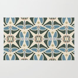 Blue Tulips - Circle Pattern Rug