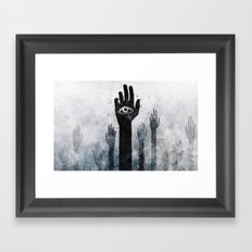 Hands & Eyes #Abstract Framed Art Print