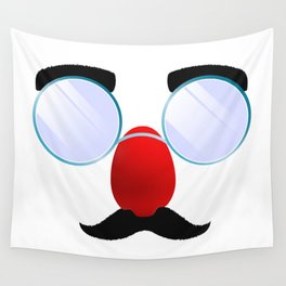 Funny Glasses with a red nose. Wall Tapestry