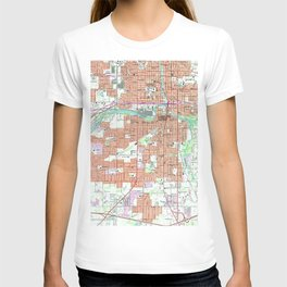 Vintage Map of Lansing Michigan (1965) T-shirt