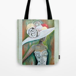 LADY IN THE WHITE HAT Tote Bag