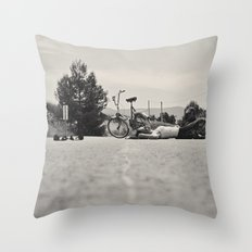 The equilibrist Throw Pillow