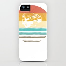 Retro Vintage Sunset Jeeps 70s Off Road Wave Men Women Gift Pullover Hoodie iPhone Case