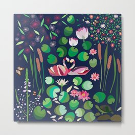 Pond Affair in color Metal Print