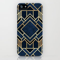 Art Deco Fancy Blue Slim Case iPhone SE