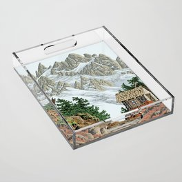 BEYOND MOUNT SHUKSAN AUTUMN COLOR VERSION Acrylic Tray