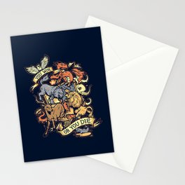 Win or Die Stationery Cards