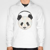 health Hoodies featuring Polkadot Panda by Sandra Dieckmann