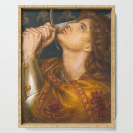 Joan of Arc by Dante Gabriel Rossetti, 1864 Serving Tray