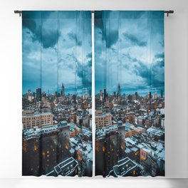 Moody skies over Manhattan Blackout Curtain