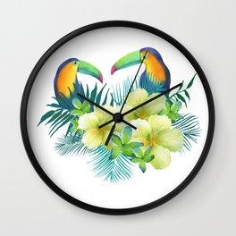 Tropical toucans Wall Clock