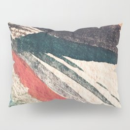 Thunder&Lightning {3}: Minimal watercolor abstract in pinks, blues, and greens Pillow Sham