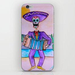 Mexican Jugador del Acordeon Dia de Los Muertos Painting iPhone Skin