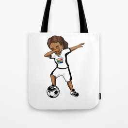 South Africa National Soccer Cup Team Football Womens Girls Funny Dabbing Player World Tote Bag