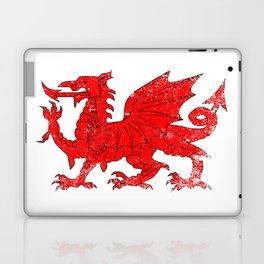 Welsh Dragon With Grunge Laptop & iPad Skin