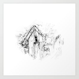 icelandic turf house Art Print