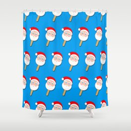 santa clause bubble gum ice cream Shower Curtain