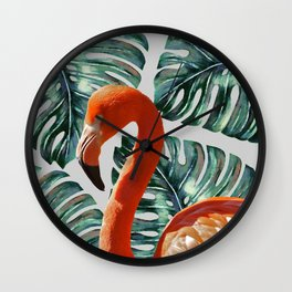 Flamingo Self Portrait #society6 #decor #buyart Wall Clock